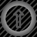arrow, arrows, circle, up icon