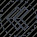 arrow, double, left, pointer icon