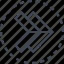 arrow, double, pointer, right icon