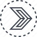arrow, pointer, right, sharp icon