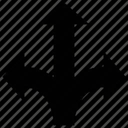 arrows, shape, tree shape, up icon