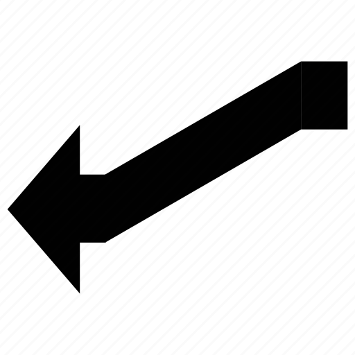 arrow, arrow connector, connector, left down line icon