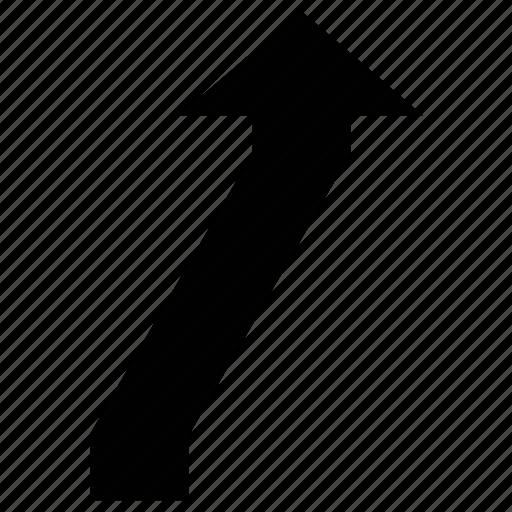 arrow, arrow connector, connector, line starts icon