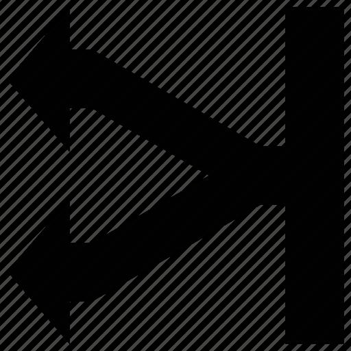 arrow shapes, arrows, shape, split left icon