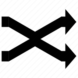 arrows, cross directions, directions, fork right icon