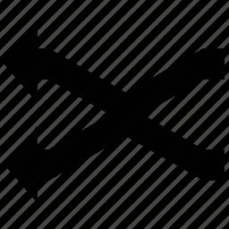 arrows, cross directions, fork arrows, fork left icon