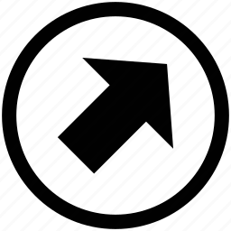 arrow, right, upper right, web arrow icon