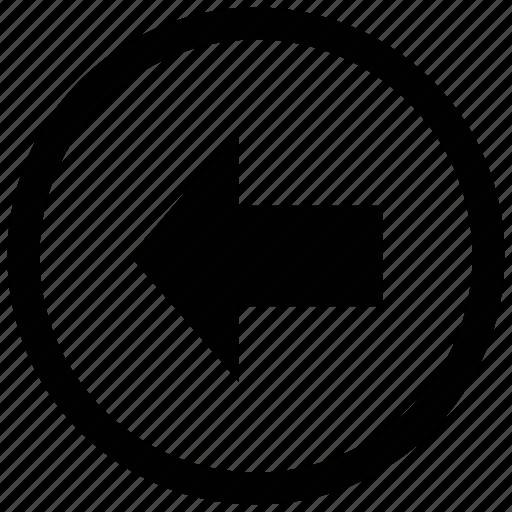arrow, back, left, web arrow icon