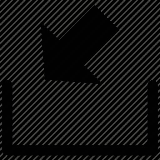 arrow, down, lower left, web arrow icon
