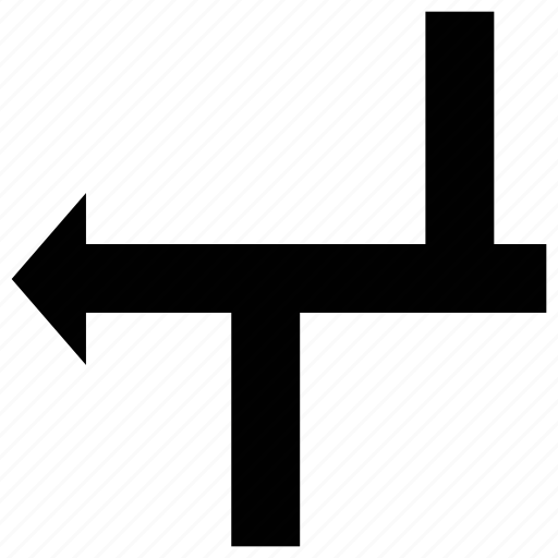 arrow, directional arrow, directional sign, left icon