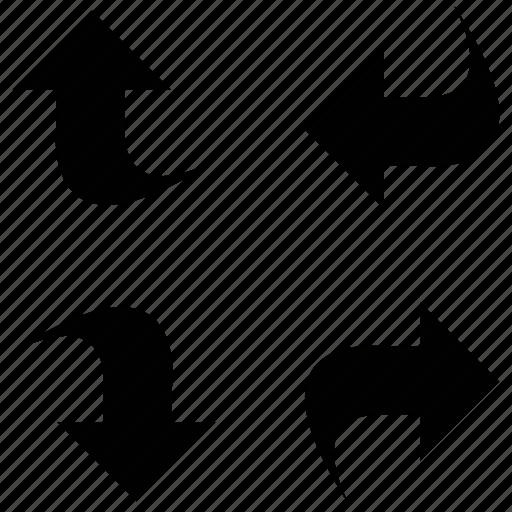 arrows, direction arrows, directional, directions icon