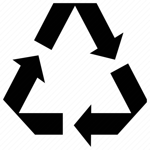 arrows, energy recycle, refresh sign, triangular shape icon