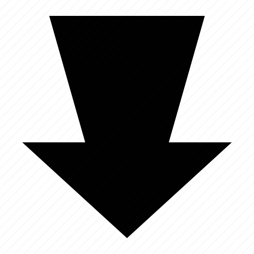 arrow, direction, down, down arrow icon