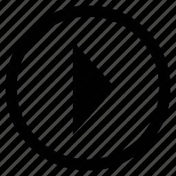 arrow, forward button, media arrow, media button icon