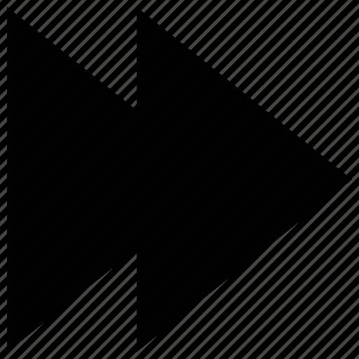 fast forward, media arrow, media button, media player arrow icon