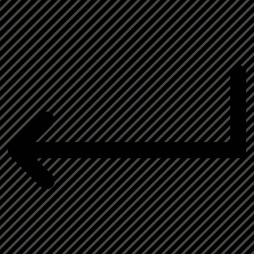arrow, returning, returning angle, returning arrow icon