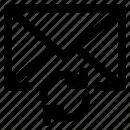 arrows, cycle arrows, mail refresh, refresh arrows icon