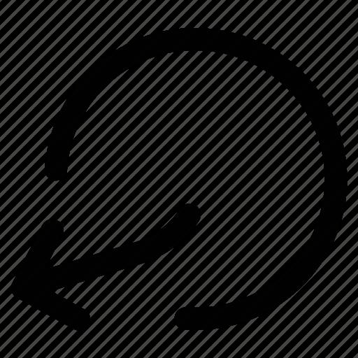 arrow, back button, left arrow, redo icon