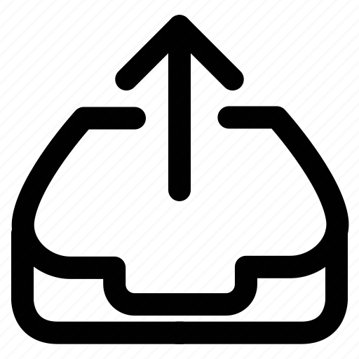 arrow, outbox, outgoing, upload icon