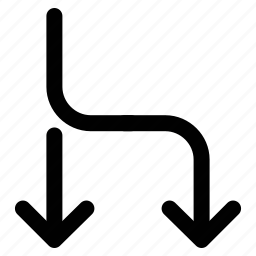 arrows, bifurcation, bifurcation arrow, shape icon
