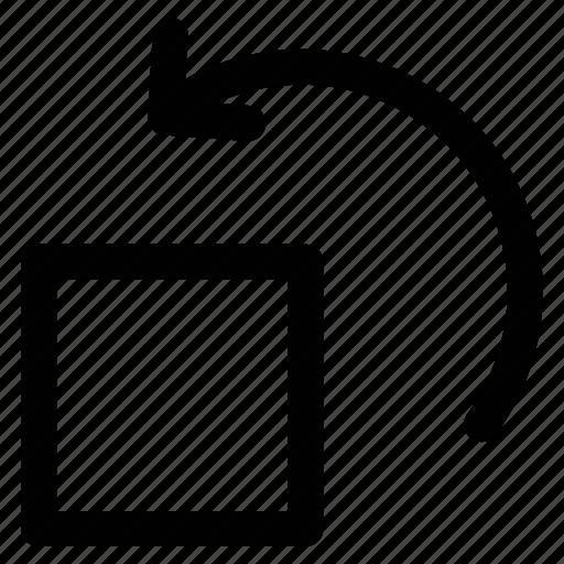 arrow, back page, curving arrow, undo icon