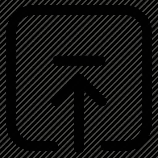 arrow, up, upload, upload sign icon