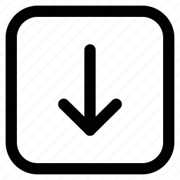 arrow, down, down arrow, web button icon