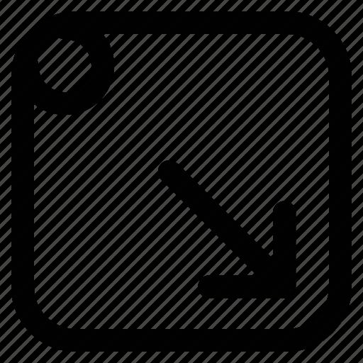 arrow, screen minimize, screen minimize sign, web arrow icon
