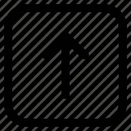 arrow, up, upload, uploading icon
