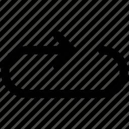 arrow, loop, right, up icon