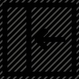 arrow, back, back webpage, left icon