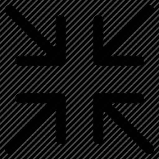 Arrows, minimize, minimize arrows, option icon - Download on Iconfinder