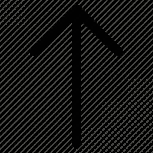 arrow, up, upload arrow, uploading sign icon