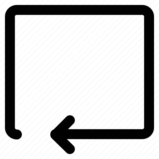 arrow, direction, return, returning arrow icon
