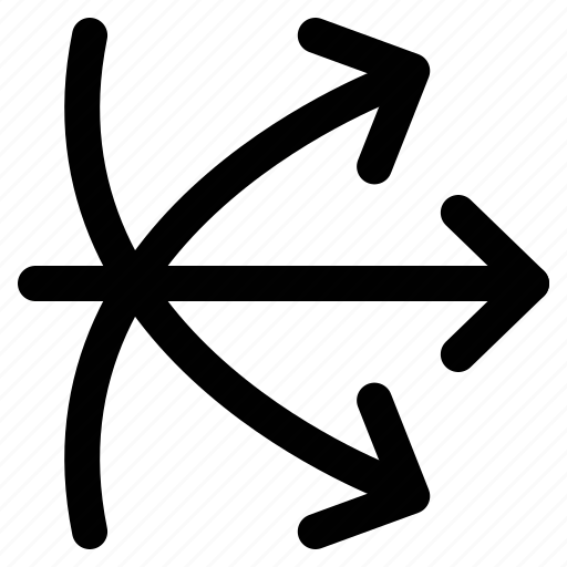 arrows, crossed, directions, mix icon