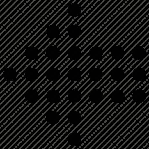 arrow, dots arrow, left, left dots arrow icon