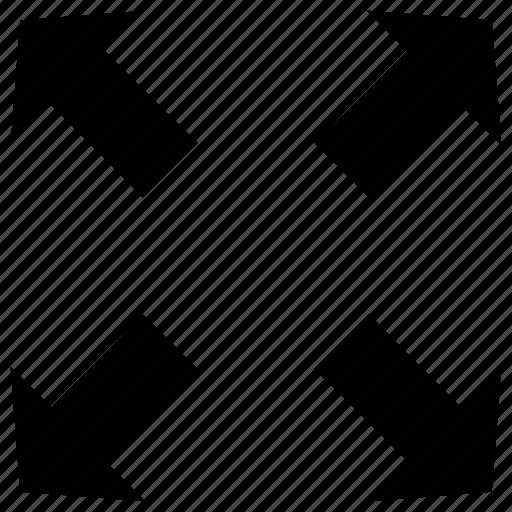 arrows, expand, shape, spread icon