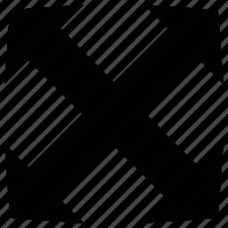 arrows, crisscross, cross, shape icon