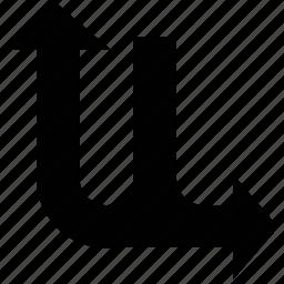 arrow, curve, merge, shape icon