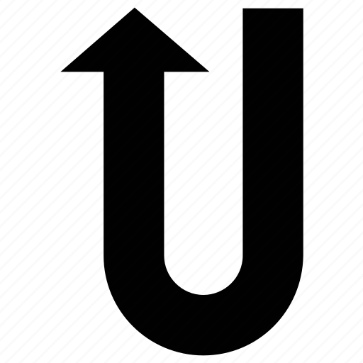Arrow, direction, u-turn, up icon - Download on Iconfinder