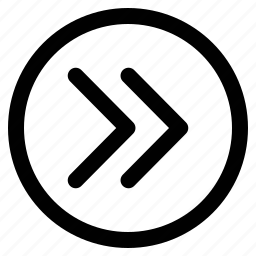 arrows, double, nav, right icon