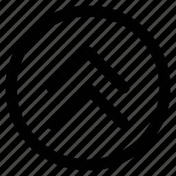arrows, double, nav, up icon