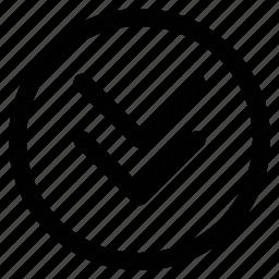 arrows, double, down, nav icon