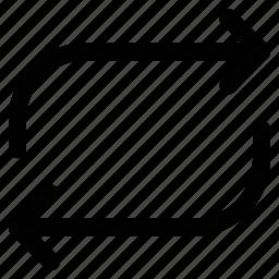 arrows, refresh, reload, retweet icon