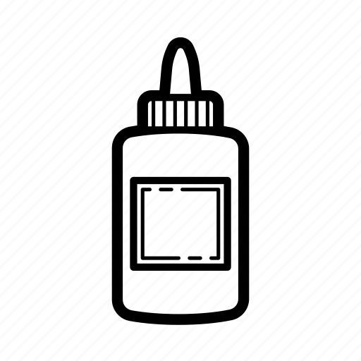 glue, glue bottle, paper glue, stationary glue, white glue icon
