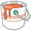 bucket, can, color, colour, paint, painting icon