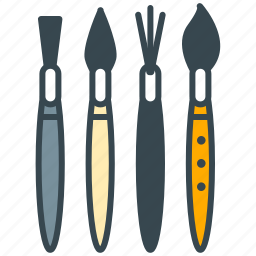 art, brush, kind, size, type icon