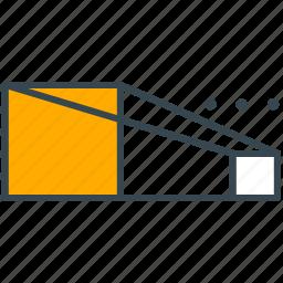art, design, dimensions, draw, perspective icon