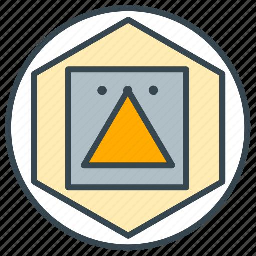 art, design, draw, shape, shapes, triangle icon