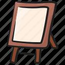art board, blackboard, chalkboard, easel board, whiteboard icon